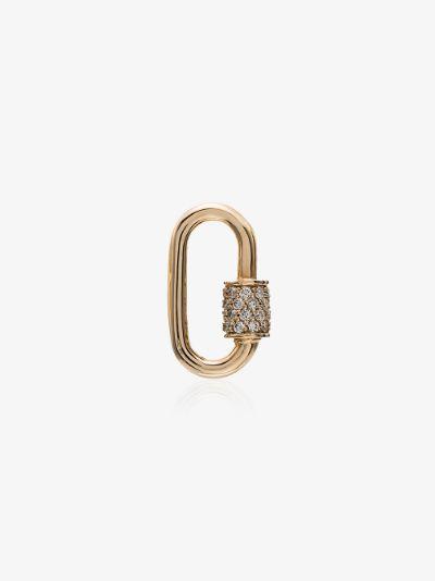 18K yellow gold Stoned baby diamond lock charm