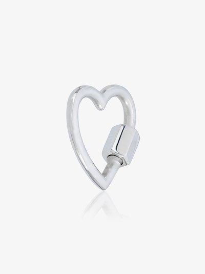 sterling Silver regular Heart lock Charm