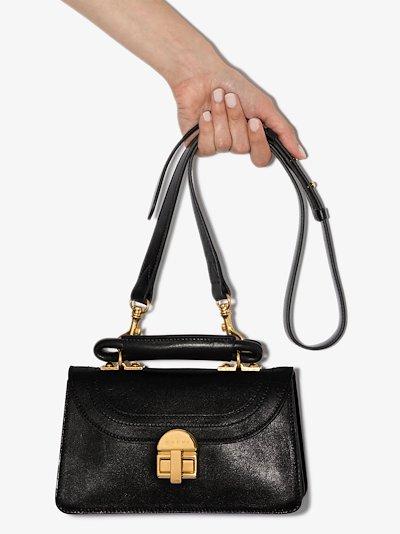 black Juliette leather cross body bag