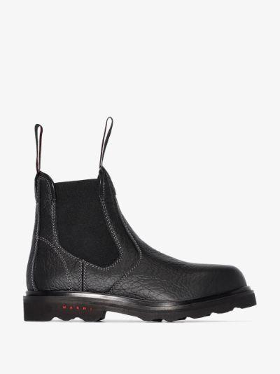 black Marni Ethiopia leather Chelsea boots