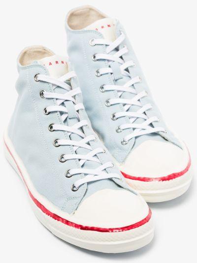 Blue Graffiti High Top Sneakers