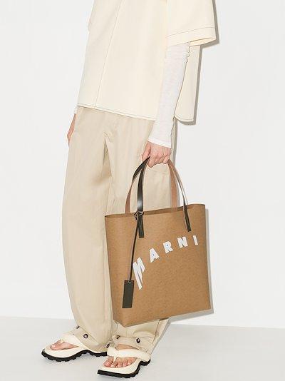 Brown shopping papier tote bag