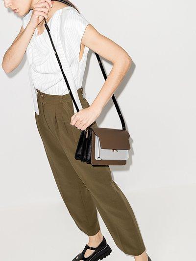 brown Trunk leather shoulder bag