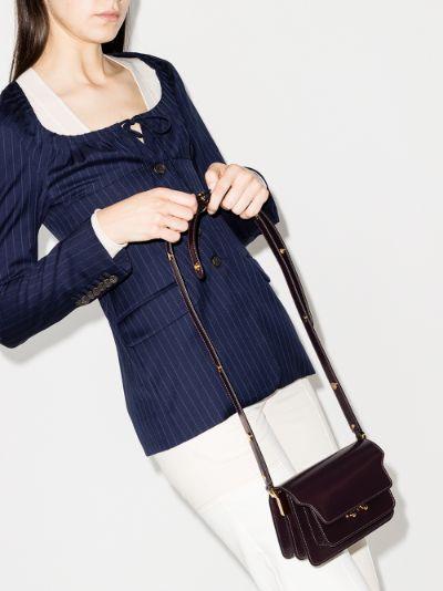 burgundy Trunk leather shoulder bag