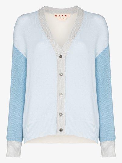 colour block cashmere cardigan