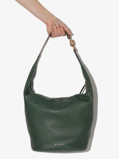 Green Pierce leather shoulder bag