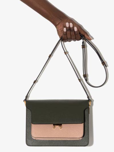 green Trunk leather shoulder bag
