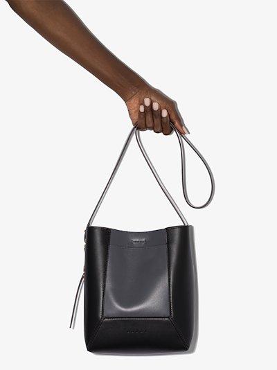 Grey Nemo leather shoulder bag