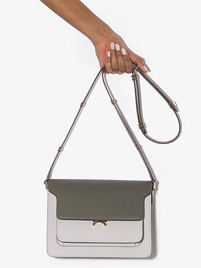 grey Trunk medium leather shoulder bag