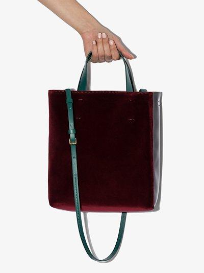 Museo velvet-effect tote bag