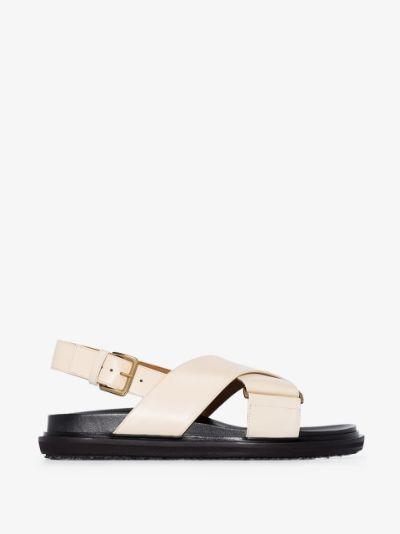 Neutral Fussbett leather sandals