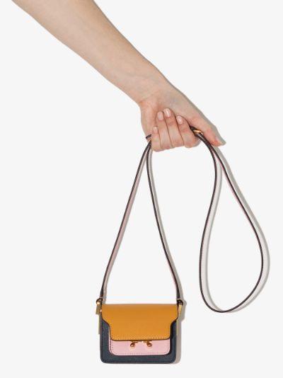 Orange Trunk leather mini shoulder bag