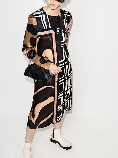 Patchwork Print Midi Dress