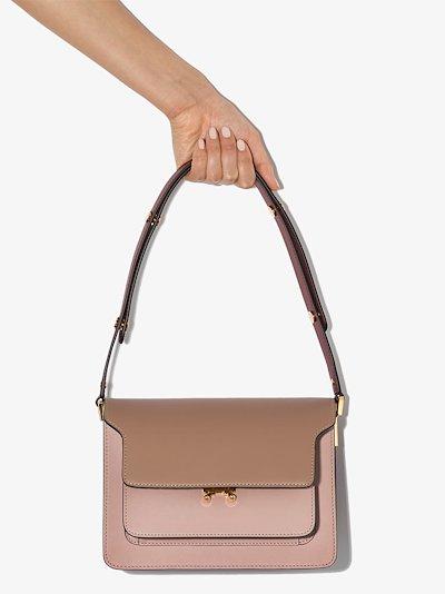 Pink Trunk medium leather shoulder bag