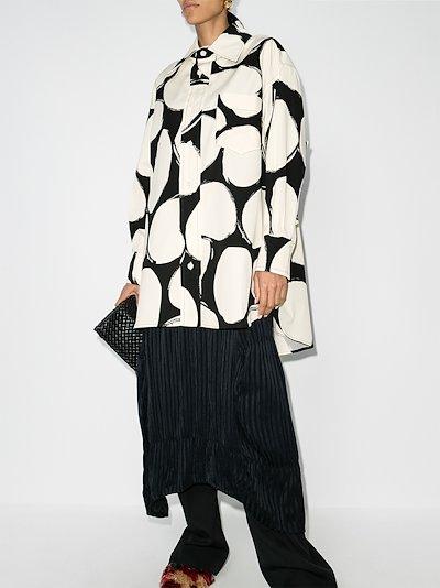 polka dot oversized shirt