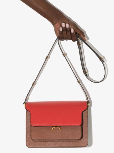 red Trunk leather shoulder bag