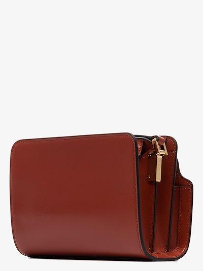 red Trunk mini leather shoulder bag