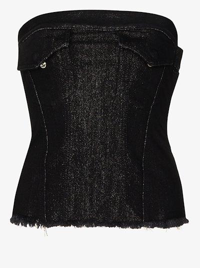 denim corset top