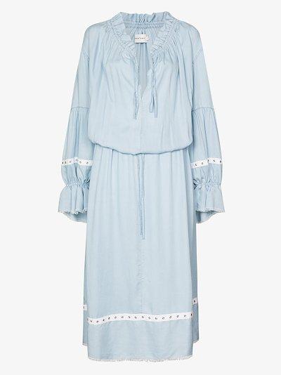 eyelet peasant dress