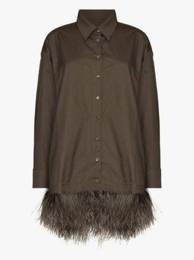 Feather Trim Shirt