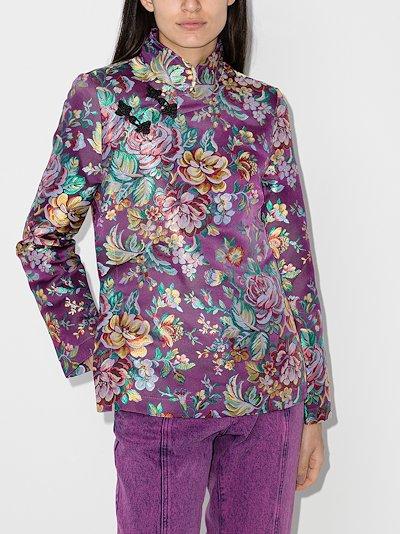 floral cheongsam blouse