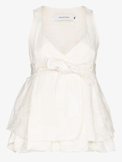 jacquard sleeveless blouse
