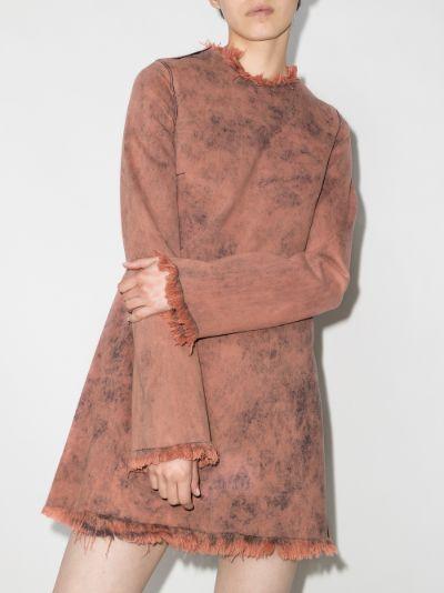 Janis tie-dye denim mini dress