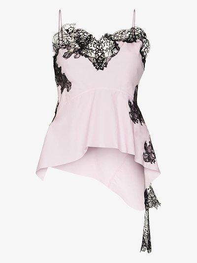 lace detail cotton camisole