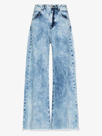 reM'Ade acid wash wide leg jeans