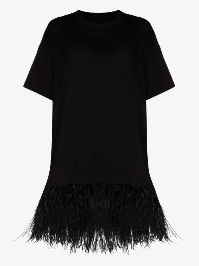 reM'Ade Feather Trim Cotton T-shirt