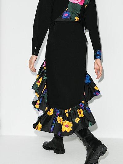 reM'Ade Patchwork Handkerchief Midi Skirt