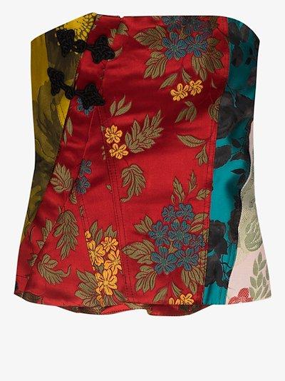 reM'Ade patchwork silk corset top