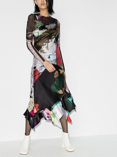reM'Ade Sleeveless Patchwork Midi Dress