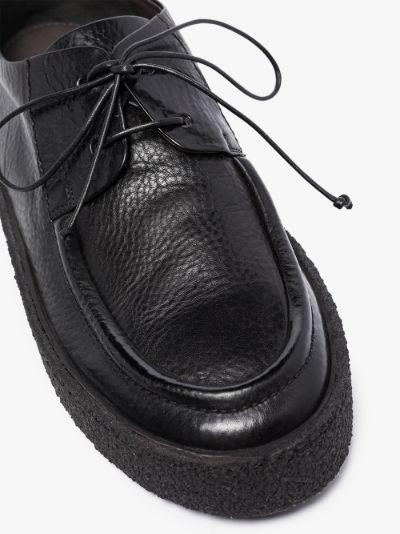 Black Cassapara leather derby shoes