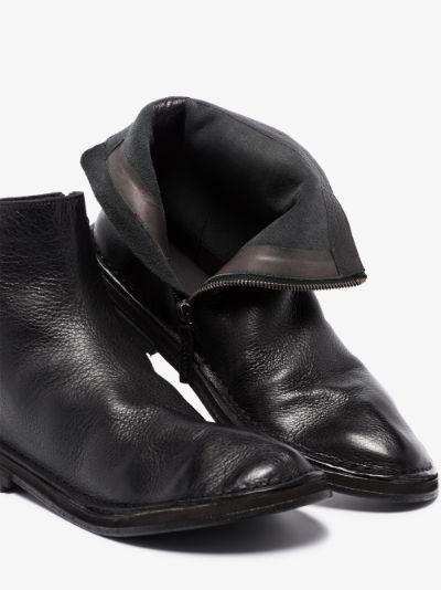 Black Fungaccio Tronchetto Leather Ankle Boots