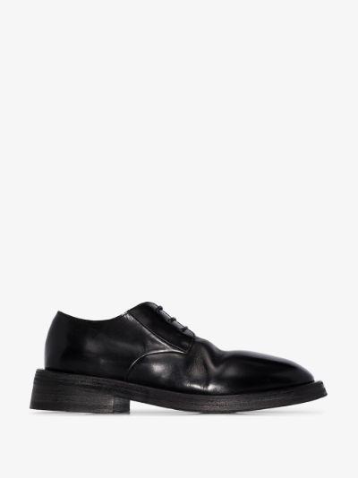 Black Mentone Leather Derby Shoes