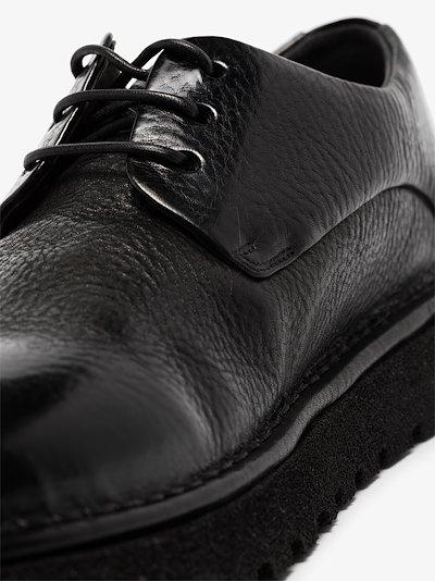 black Pallottola Pomice leather Derby shoes