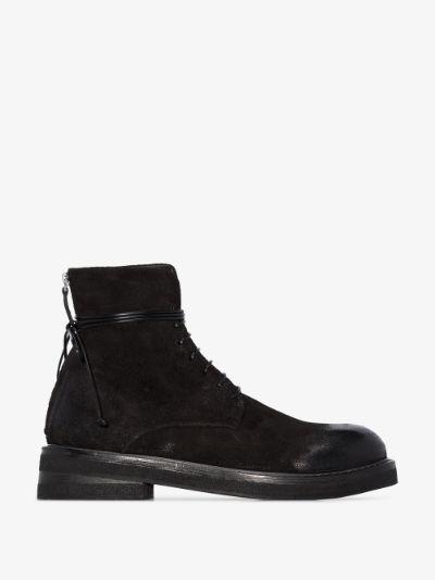 black Parrucca lace-up boots