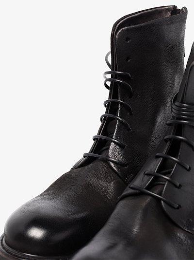 black Parrucca leather boots