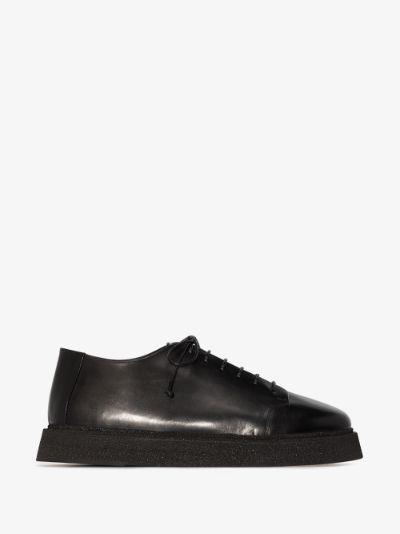 black Zampogna suede derby shoes