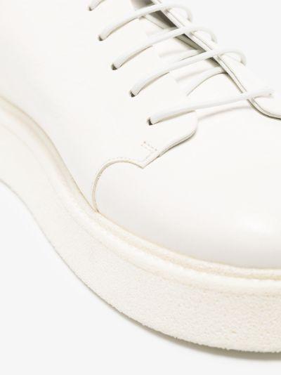 White Zampogna leather Derby shoes
