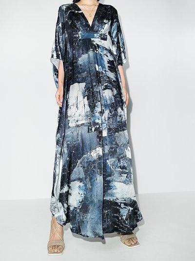 Dunaway printed silk maxi dress
