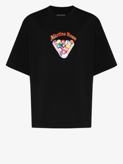 Billiards graphic cotton T-shirt