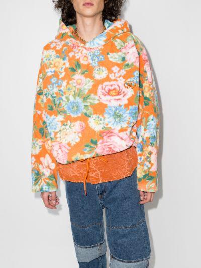 Bongo floral print fleece hoodie