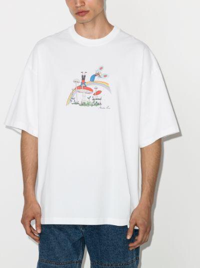 Cartoon Logo Print T-shirt