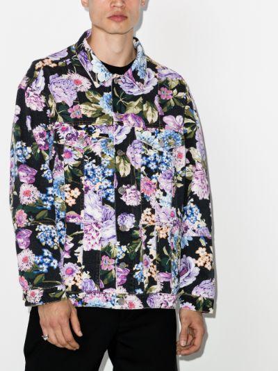 Floral Print Denim Jacket