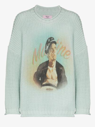 Man airbrush print sweater