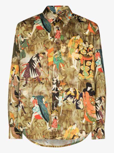 Samurai print shirt