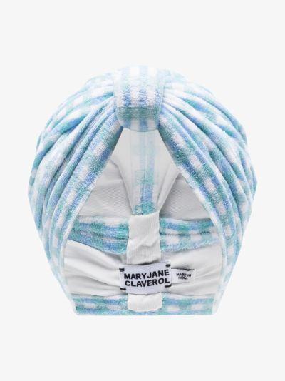 Blue Biba tie-dye turban