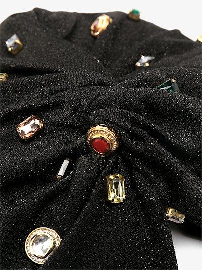 crystal-embellished turban